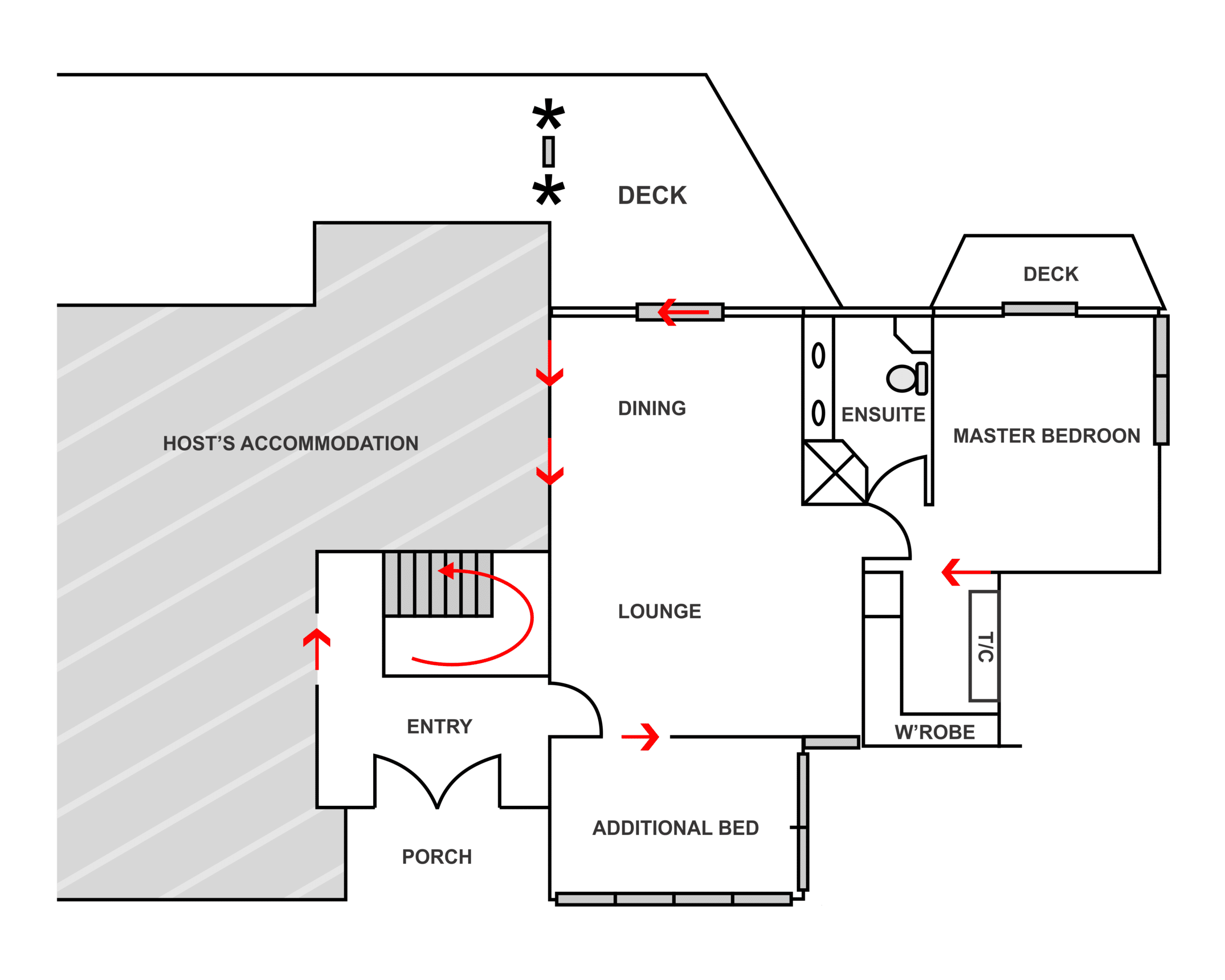 valley view bed and breakfast floor plan